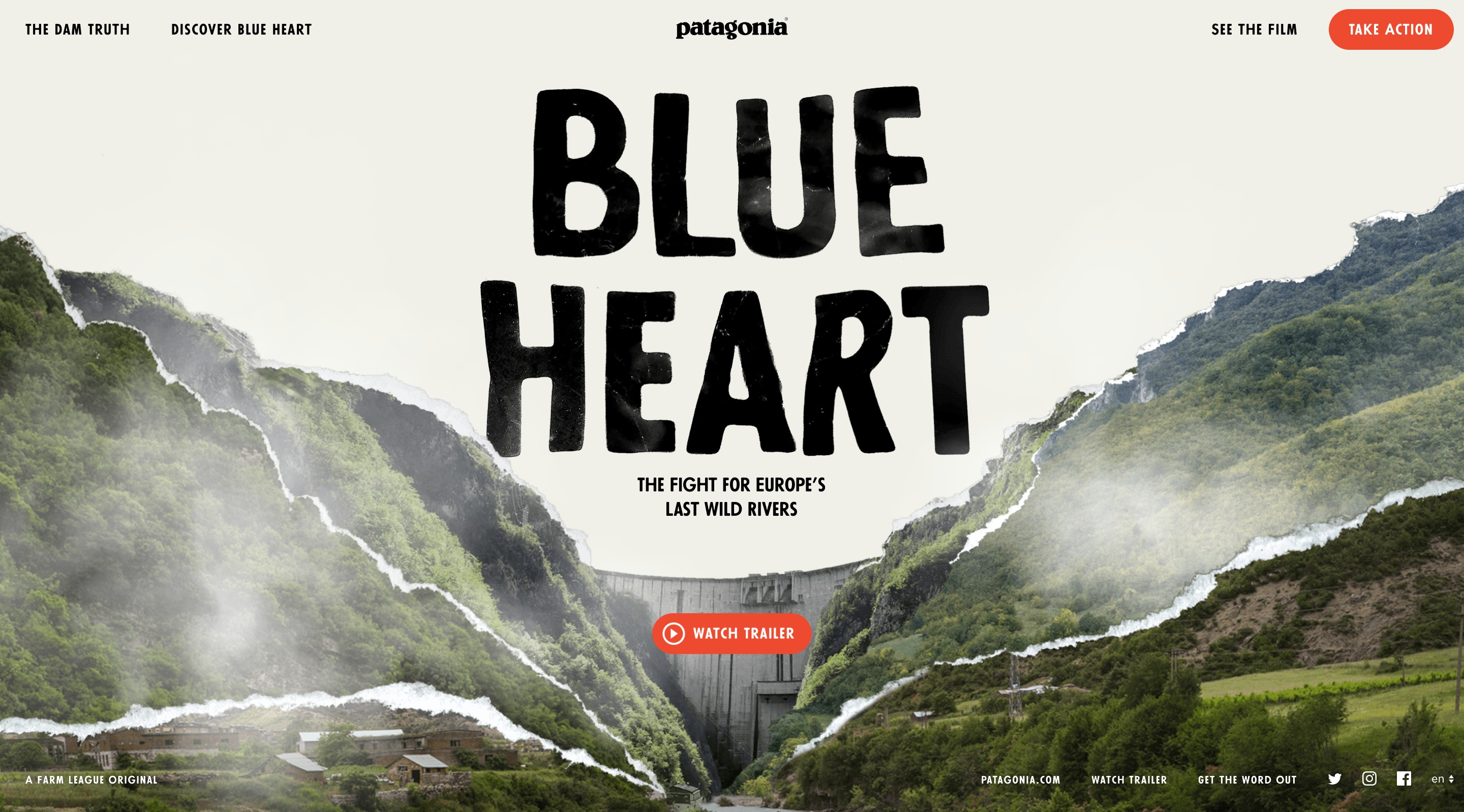 Best Websites of April 2018 Blue Heart Patagonia